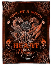 """Dragon - Mandala - Soul Of A Witch Small Fleece Blanket - 30"""" x 40"""" front"""