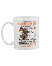 DAUGHTER-IN-LAW - GOD - STRONGER - BRAVER  Mug back