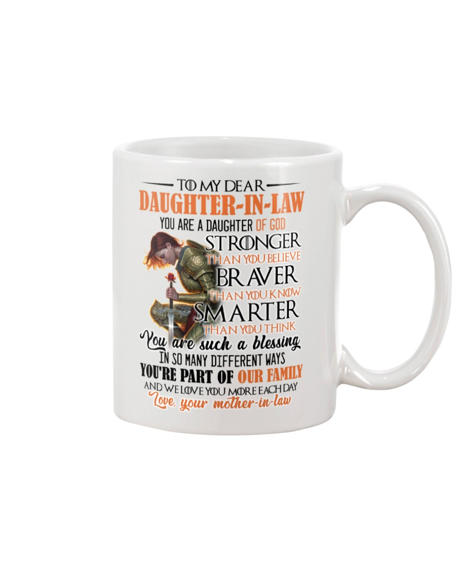 DAUGHTER-IN-LAW - GOD - STRONGER - BRAVER  Mug