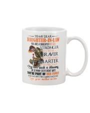 DAUGHTER-IN-LAW - GOD - STRONGER - BRAVER  Mug front