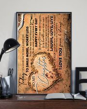 TO MY DAUGHTER - FOOTPRINTS - TODAY IS A GOOD DAY 16x24 Poster lifestyle-poster-2