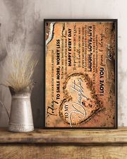 TO MY DAUGHTER - FOOTPRINTS - TODAY IS A GOOD DAY 16x24 Poster lifestyle-poster-3