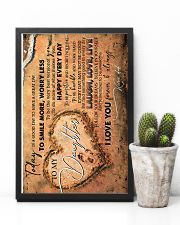 TO MY DAUGHTER - FOOTPRINTS - TODAY IS A GOOD DAY 16x24 Poster lifestyle-poster-8