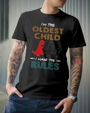 T-SHIRT - T REX - RULES - OLDEST CHILD Classic T-Shirt lifestyle-mens-crewneck-front-6