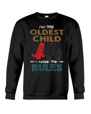 T-SHIRT - T REX - RULES - OLDEST CHILD Crewneck Sweatshirt thumbnail