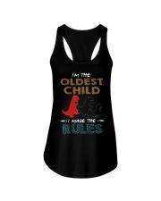 T-SHIRT - T REX - RULES - OLDEST CHILD Ladies Flowy Tank thumbnail