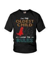T-SHIRT - T REX - RULES - OLDEST CHILD Youth T-Shirt thumbnail