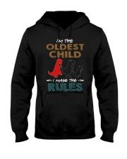 T-SHIRT - T REX - RULES - OLDEST CHILD Hooded Sweatshirt thumbnail