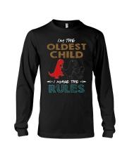 T-SHIRT - T REX - RULES - OLDEST CHILD Long Sleeve Tee thumbnail