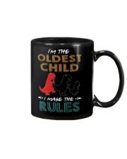 T-SHIRT - T REX - RULES - OLDEST CHILD Mug thumbnail