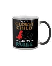 T-SHIRT - T REX - RULES - OLDEST CHILD Color Changing Mug thumbnail