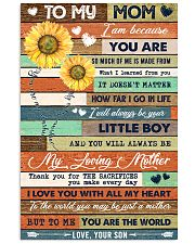 TO MY MOM - SUNFLOWER 16x24 Poster front
