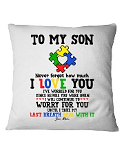 MOM TO SON Square Pillowcase thumbnail