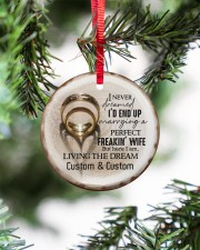 I Love You More - Personalized Circle Ornament Circle ornament - single (porcelain) aos-circle-ornament-single-porcelain-lifestyles-07