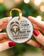 I Love You More - Personalized Circle Ornament Circle ornament - single (porcelain) aos-circle-ornament-single-porcelain-lifestyles-08
