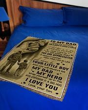 "To My Dad - Fleece Blanket Small Fleece Blanket - 30"" x 40"" aos-coral-fleece-blanket-30x40-lifestyle-front-02"