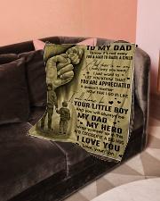 "To My Dad - Fleece Blanket Small Fleece Blanket - 30"" x 40"" aos-coral-fleece-blanket-30x40-lifestyle-front-05"