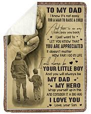 To My Dad - Fleece Blanket Sherpa Fleece Blanket tile