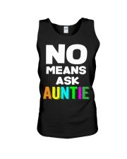 No means ask auntie Unisex Tank thumbnail