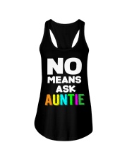No means ask auntie Ladies Flowy Tank thumbnail