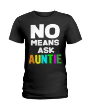 No means ask auntie Ladies T-Shirt thumbnail