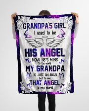 """Angel Grandpa - I Used To Be His Angel  Small Fleece Blanket - 30"""" x 40"""" aos-coral-fleece-blanket-30x40-lifestyle-front-14"""