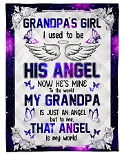 """Angel Grandpa - I Used To Be His Angel  Small Fleece Blanket - 30"""" x 40"""" front"""