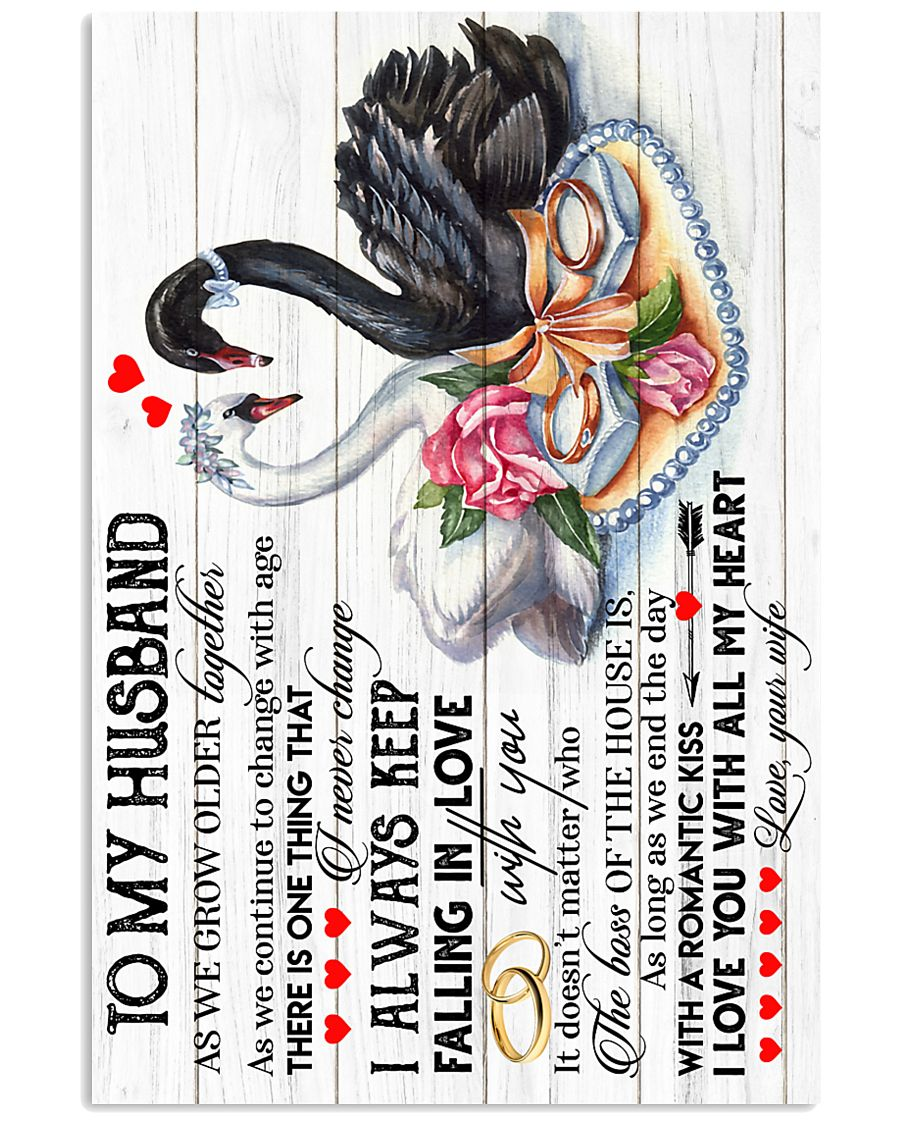 TO MY HUSBAND - SWAN - I LOVE YOU 16x24 Poster