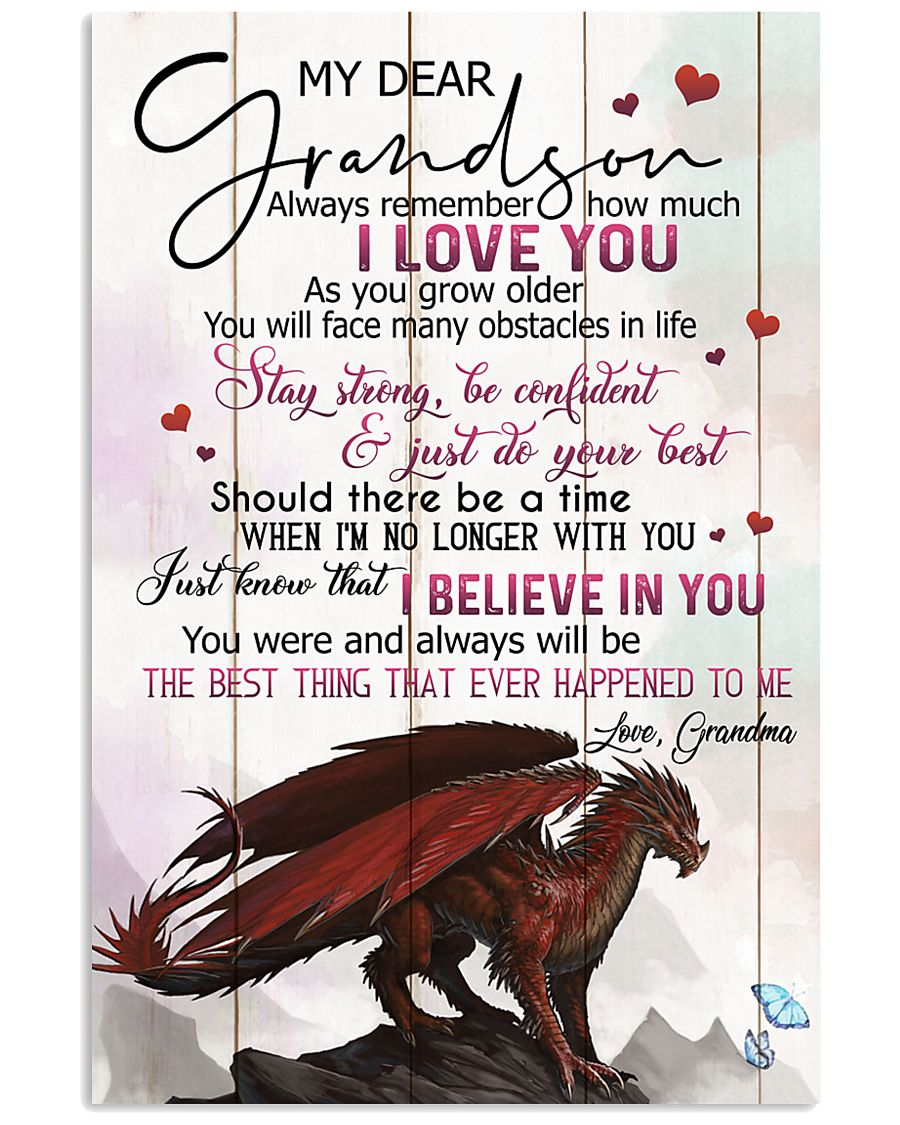 TO MY GRANDSON - DRAGONS - I LOVE YOU 16x24 Poster