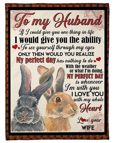 TO MY HUSBAND - RABBIT - I LOVE YOU