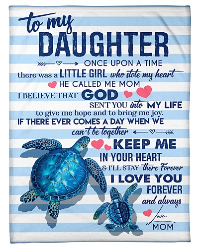 BLANKET - TO MY DAUGHTER - TURTLES - ONCE UPON