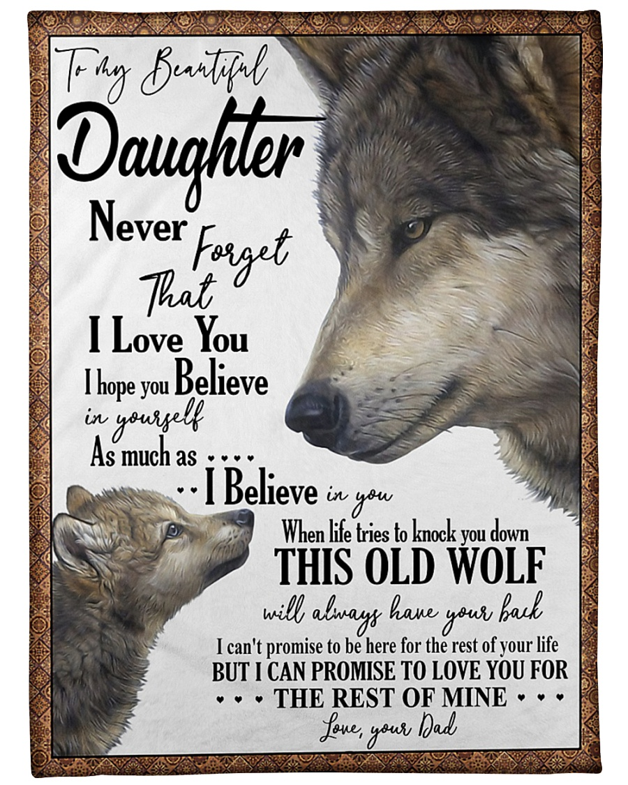 "DAD TO DAUGHTER Large Fleece Blanket - 60"" x 80"""