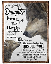 "DAD TO DAUGHTER Large Fleece Blanket - 60"" x 80"" front"