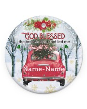 Christmas - Husband and Wife - God Blessed  Circle ornament - single (porcelain) front