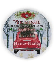 Christmas - Husband and Wife - God Blessed  Circle ornament - single (wood) thumbnail