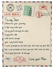 """Gift For Son - Fleece Blanket  Small Fleece Blanket - 30"""" x 40"""" front"""