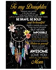 TO MY DAUGHTER - DREAM CATCHER - THINGS MAY BE 16x24 Poster front