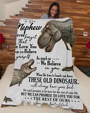 """TO MY AMAZING NEPHEW Large Fleece Blanket - 60"""" x 80"""" aos-coral-fleece-blanket-60x80-lifestyle-front-04"""