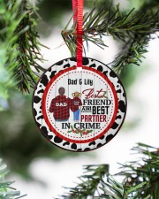 To My Dad - Christmas - Personalized Circle ornament - single (porcelain) aos-circle-ornament-single-porcelain-lifestyles-07