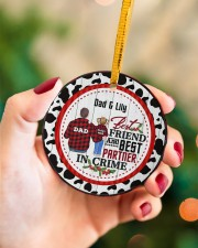 To My Dad - Christmas - Personalized Circle ornament - single (porcelain) aos-circle-ornament-single-porcelain-lifestyles-09