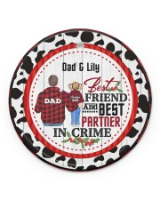 To My Dad - Christmas - Personalized Circle ornament - single (porcelain) front