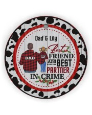 To My Dad - Christmas - Personalized Circle Ornament (Wood tile