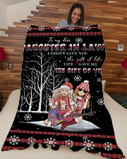 "Christmas - To My Daughter-in-law - Hippie Large Fleece Blanket - 60"" x 80"" aos-coral-fleece-blanket-60x80-lifestyle-front-04"