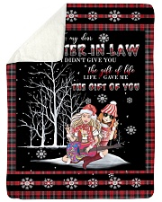 "Christmas - To My Daughter-in-law - Hippie Large Sherpa Fleece Blanket - 60"" x 80"" thumbnail"