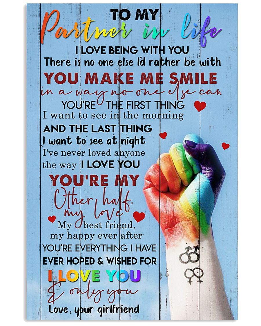TO MY PARTNER IN LIFE 16x24 Poster