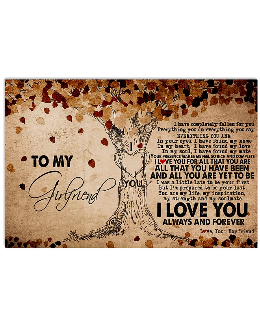 TO MY GIRLFRIEND 24x16 Poster