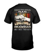 TWO TITLES - DAD - ROCK Classic T-Shirt back