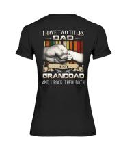 TWO TITLES - DAD - ROCK Premium Fit Ladies Tee thumbnail