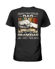 TWO TITLES - DAD - ROCK Ladies T-Shirt thumbnail