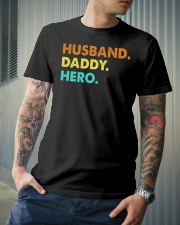 Husband Daddy Hero Classic T-Shirt lifestyle-mens-crewneck-front-6